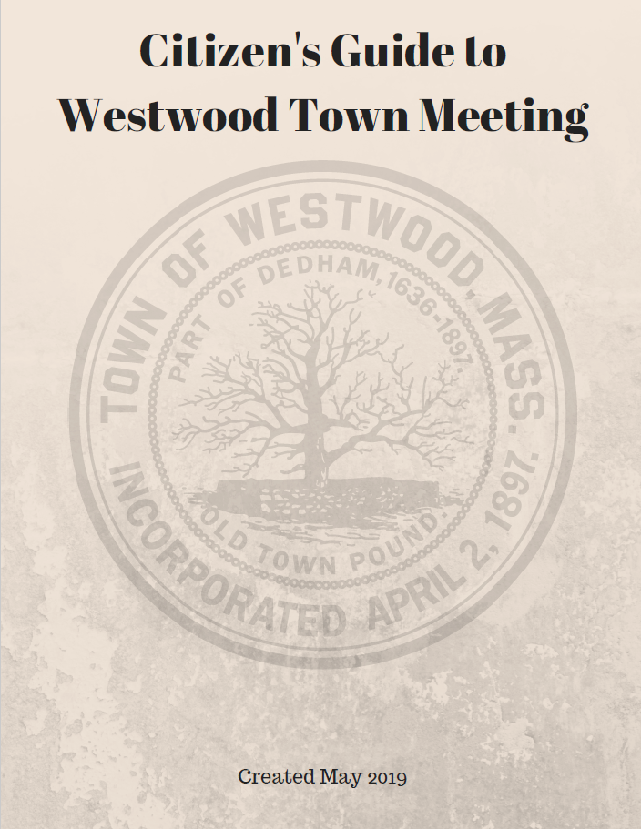 Citizen's Guide to Westwood Town Meeting